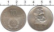 Изображение Монеты ГДР 10 марок 1979 Серебро UNC-