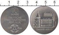 Изображение Монеты ГДР 10 марок 1986 Серебро UNC-