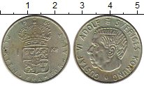 Изображение Монеты Швеция 1 крона 1965 Серебро XF Густав VI Адольф