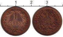 Изображение Монеты Европа Австрия 1 крейцер 1885 Медь XF+
