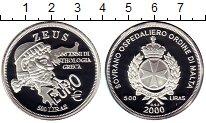 Изображение Монеты Европа Мальтийский орден 500 лир 2000 Серебро Proof