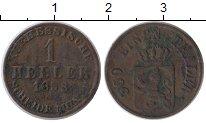 Изображение Монеты Германия Пруссия 1 геллер 1858 Медь VF