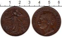 Изображение Монеты Европа Италия 10 сентесим 1911 Медь XF