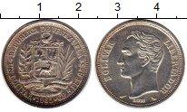 Изображение Монеты Венесуэла 1 боливар 1965 Серебро UNC-