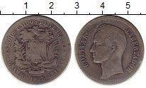 Изображение Монеты Венесуэла 2 боливара 1935 Серебро VF