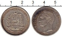 Изображение Монеты Венесуэла 2 боливара 1960 Серебро XF- Симон Боливар