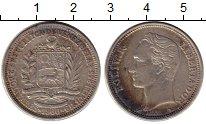 Изображение Монеты Венесуэла 2 боливара 1960 Серебро XF-