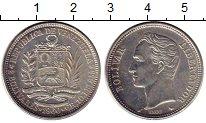 Изображение Монеты Южная Америка Венесуэла 2 боливара 1960 Серебро XF
