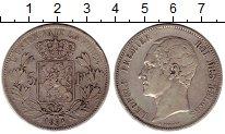 Изображение Монеты Бельгия 5 франков 1851 Серебро VF