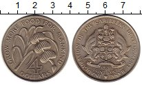 Изображение Монеты Сент-Люсия 4 доллара 1970 Медно-никель UNC-