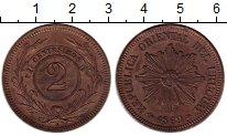 Изображение Монеты Южная Америка Уругвай 2 сентесимо 1869 Медь XF-