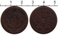 Изображение Монеты Уругвай 1 сентесимо 1869 Медь VF