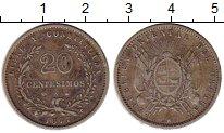 Изображение Монеты Южная Америка Уругвай 20 сентесим 1877 Серебро VF