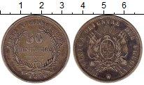 Изображение Монеты Уругвай 50 сентесим 1877 Серебро VF