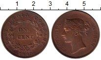 Изображение Монеты Стрейтс-Сеттльмент 1 цент 1845 Медь XF-