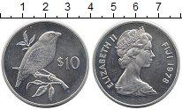 Изображение Монеты Фиджи 10 долларов 1978 Серебро UNC- Охрана дикой природы