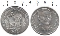 Изображение Монеты Заир 2 1/2 заира 1975 Серебро UNC-