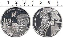 Изображение Монеты Франция 1 1/2 евро 2003 Серебро Proof Олимпийские игры, Пь