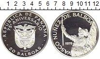 Изображение Монеты Северная Америка Панама 20 бальбоа 1978 Серебро Proof-
