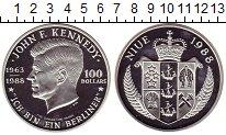 Изображение Монеты Новая Зеландия Ниуэ 100 долларов 1988 Серебро Proof-