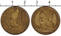 Изображение Монеты Африка Мадагаскар 20 франков 1953 Латунь XF