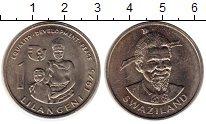 Изображение Монеты Свазиленд 1 лилангени 1975 Медно-никель UNC-