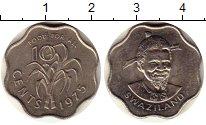Изображение Монеты Свазиленд 10 центов 1975 Медно-никель UNC-