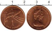 Изображение Мелочь Великобритания Остров Святой Елены 1 пенни 1984 Бронза UNC-