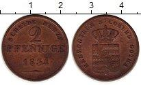 Изображение Монеты Германия Саксе-Кобург-Гота 2 пфеннига 1834 Медь VF+