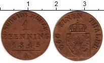 Изображение Монеты Германия Пруссия 1 пфенниг 1845 Медь XF