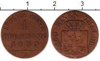 Изображение Монеты Германия Пруссия 1 пфенниг 1833 Медь XF