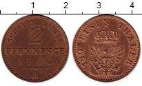 Изображение Монеты Германия Пруссия 2 пфеннига 1864 Медь XF