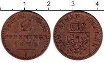 Изображение Монеты Германия Пруссия 2 пфеннига 1875 Медь XF