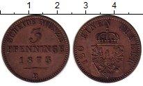 Изображение Монеты Пруссия 3 пфеннига 1875 Медь XF