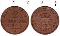 Изображение Монеты Германия Пруссия 2 пфеннига 1871 Медь XF