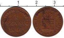 Изображение Монеты Саксе-Мейнинген 1 пфенниг 1867 Медь XF