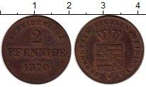 Изображение Монеты Саксе-Мейнинген 2 пфеннига 1870 Медь XF