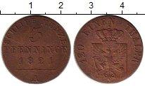 Изображение Монеты Германия Пруссия 3 пфеннига 1821 Медь XF