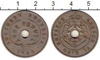 Изображение Монеты Родезия 1 пенни 1942 Медно-никель XF Георг VI