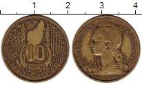 Изображение Монеты Африка Мадагаскар 10 франков 1953 Латунь XF-