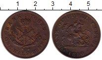 Изображение Монеты Северная Америка Канада 1/2 пенни 1850 Медь XF-