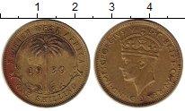 Изображение Монеты Западная Африка 1 шиллинг 1939 Латунь XF