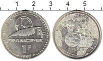 Изображение Монеты Европа Франция 1 франк 1997 Серебро UNC-