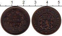 Изображение Монеты Люксембург 5 сантим 1870 Медь XF-