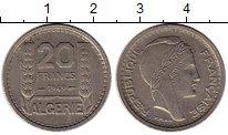 Изображение Монеты Алжир 20 франков 1949 Медно-никель XF+