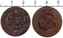 Изображение Монеты Канада 1 цент 1887 Медь XF-