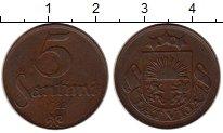 Изображение Монеты Европа Латвия 5 сантим 1922 Бронза XF
