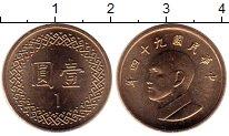 Изображение Монеты Азия Тайвань 1 юань 2005 Латунь UNC