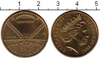 Изображение Монеты Австралия и Океания Австралия 1 доллар 2007 Латунь UNC-