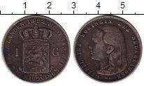 Изображение Монеты Нидерланды 1 гульден 1892 Серебро XF-